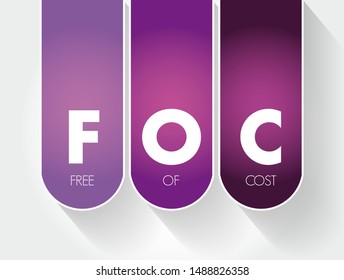 FOC - Free Of Cost acronym, business concept background