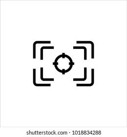 focus camera icon vector