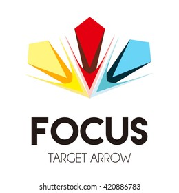 Focus cross of arrows center abstract vector