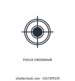 focus crosshair icon. simple element illustration. isolated trendy filled focus crosshair icon on white background. can be used for web, mobile, ui.