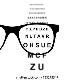 Focus in Glasses Abstract Illustration.
