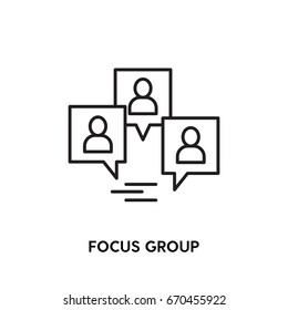 Focus group vector icon, tester symbol. Modern, simple flat vector illustration for web site or mobile app