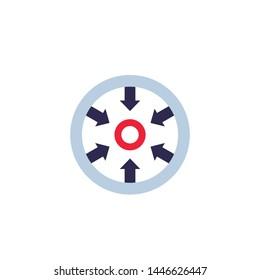 Focus icon, flat style vector