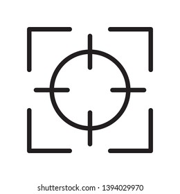 Focus icon in trendy outline style design. Vector graphic illustration. Suitable for website design, logo, app, and ui. Editable vector stroke. Pixel perfect. EPS 10.