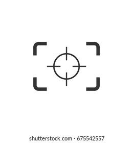 Focus Target Camera Logo Template Illustration Design. Vector EPS 10.