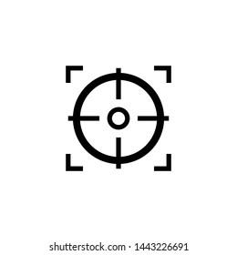 Focus Target Shoot Icon Vector Design Symbol Illustration