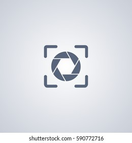 Focus vector icon, Focal vector icon