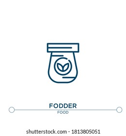 fodder outline vector icon. simple element illustration. fodder outline icon from editable food concept. can be used for web and mobile