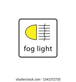 fog light icon design template