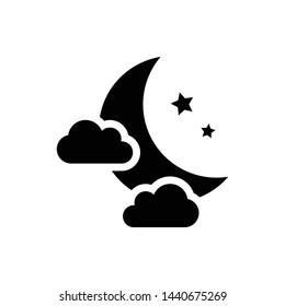 Fog Night Weather Element Vector Icon Design Template