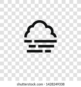 foggy icon from miscellaneous collection for mobile concept and web apps icon. Transparent outline, thin line foggy icon for website design and mobile, app development
