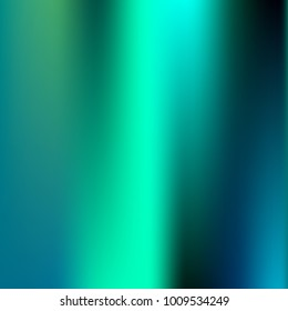 Foil hologram modern deep background. Smooth mesh blurred futuristic template. Bright hipster style backdrop. Blank Holographic spectrum gradient for printed products, covers.