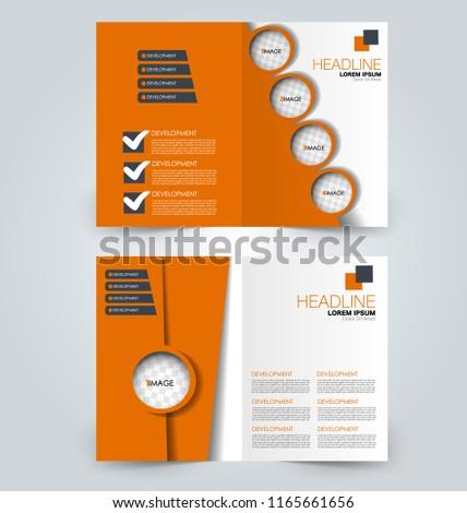 fold brochure template flyer background design stock vector royalty