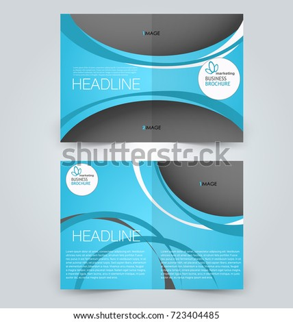 Fold Brochure Template Flyer Background Design Stock Vector (Royalty ...