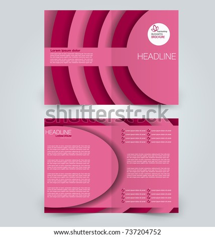 Fold Brochure Template Flyer Background Design Stock Vector Royalty