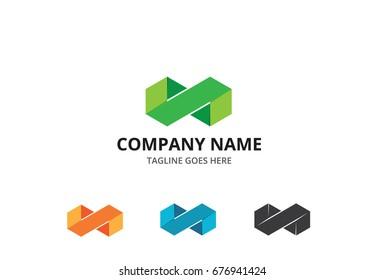 Fold Infinity Logo Template
