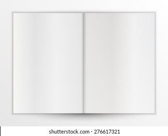 Folded A4 white paper sheet. Can use for  business card, booklet, postcard, magazine, leaflet, flyer, poster, advertising or brochure mockup template.