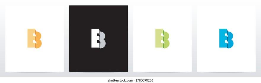Folded Letter Logo Design B