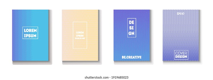 Folded Minimal Cover Vector Set. Pattern Gradient Overlay Business Folder. 80s Neon Music Poster. Cool Technology Background. Glam Magazine Page. Minimal Covers Set. Modern Flyer Texture Design.