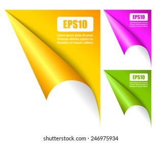 Folded page corners