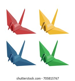 The folded paper bird