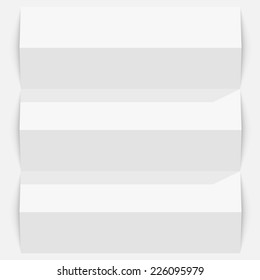 Folded paper on a white background. template design element, Vector illustration