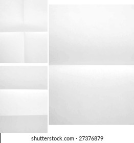 Folded paper texture three different A4 format