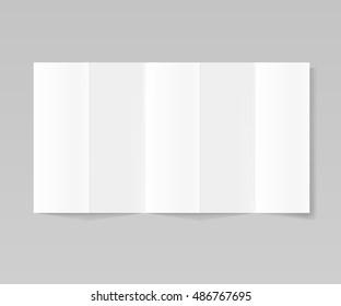 Folded realistic blank sheet of paper mockup