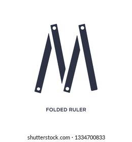 folded ruler icon. Simple element illustration from measurement concept. folded ruler editable symbol design on white background. Can be use for web and mobile.