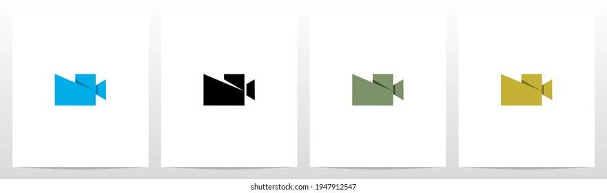 Folded Shape Camera Formed Letter Logo Design N