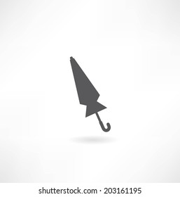 folded umbrella icon