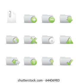 Folder Applications icon set 9 - Bi Colored Series (Green and Gray). Vector eps 8 format, easy to edit.