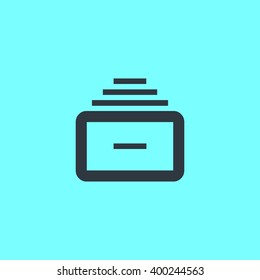 Folder archive. Cabinet. Drawer. Isolated minimal single flat icon. One of a set of linear web icons. Line vector icon for websites and mobile minimalistic flat design.
