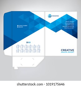 Folder design, cover for catalogue, brochures, layout for placement of photos and text, modern geometric design