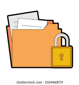 folder document with padlock