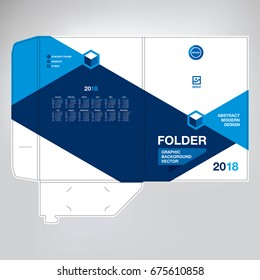 Folder for documents design, a template to embed information