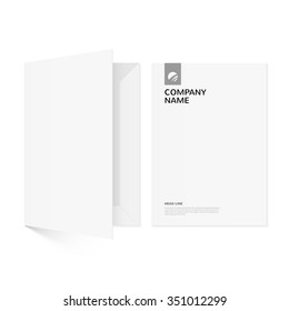 Folder for documents. An element of corporate identity.