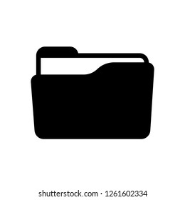 Folder of documents, portfolio with files, business icon. Black icon on white background