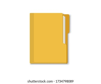 Folder with documents. Folder for securities. Vector flat style.