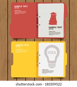 folder with documents vector illustration