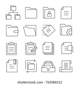 folder and file icons