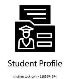 Folder having student profile and biodata