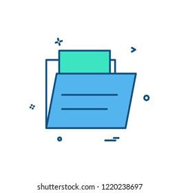 Folder icon design vector