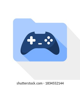 folder icon with a game pad in the inside