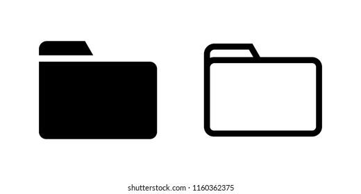 Folder icon. Folder line icon.