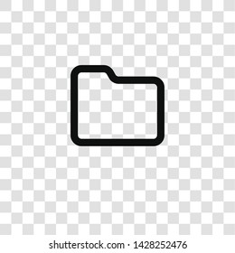 folder icon from miscellaneous collection for mobile concept and web apps icon. Transparent outline, thin line folder icon for website design and mobile, app development
