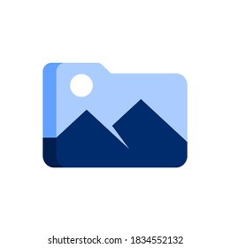 folder icon with a mountain inside