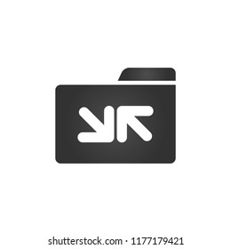 Folder Icon sync arrrows in trendy flat style isolated on white background, for your web site design, app, logo, UI. Vector illustration,