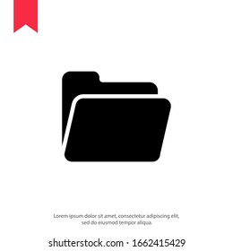 Folder Icon in trendy flat style
