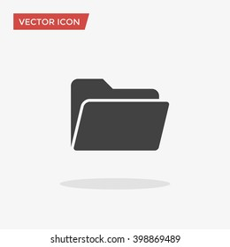Folder Icon in trendy flat style isolated on grey background, for your web site design, app, logo, UI. Vector illustration, EPS10.